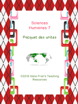 Sciences humaines 7e annee  - Paquet
