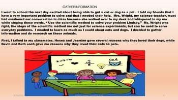 Scientific Method Short Story(The Kitty Cat or The Puppy Dog)