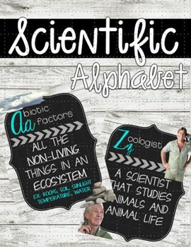 Shiplap & Chalkboard Scientific Alphabet