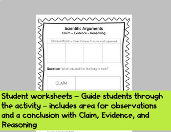 Convection Scientific Argument with Claim Evidence Reasoning