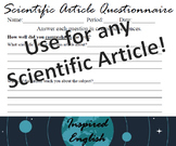 Scientific Article Questionnaire - For any Scientific Article!