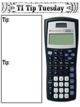 Scientific Calculators: TI Tip Tuesday