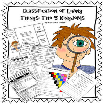 5 Kingdoms Of Living Things Worksheets Teaching Resources