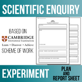 Scientific Enquiry - Experiment Plan and Report