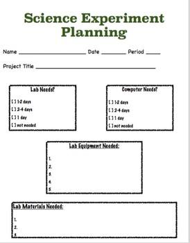 Scientific Experiment Plan