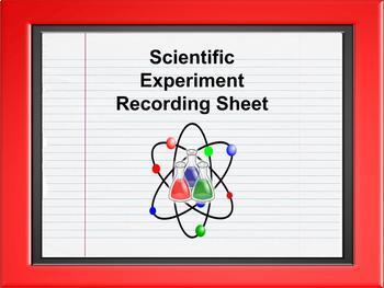 Scientific Experiment Recording Sheet