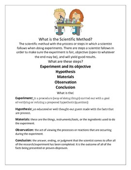 Scientific Experiment Worksheet