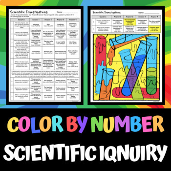 Scientific Investigations - Color by Number