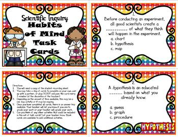 Scientific Inquiry Habits of Mind Task Cards