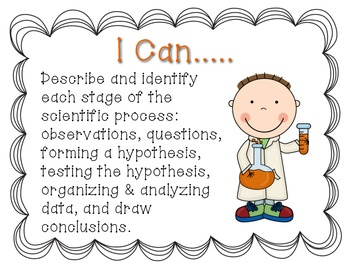 Scientific Inquiry I Can Posters