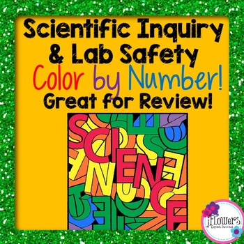 Scientific Inquiry & Lab Safety Color by Number Activity! Great for Review!