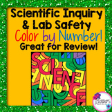 Back to School Scientific Inquiry & Lab Safety Color by Number