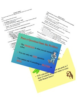 Scientific Inquiry Process Cloze Notes and PowerPoint