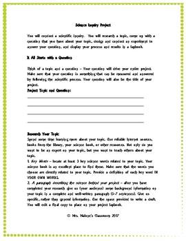 Scientific Inquiry Project