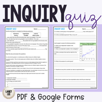 Scientific Inquiry Quiz