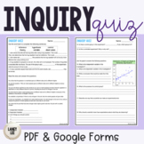 Scientific Inquiry Quiz FREEBIE