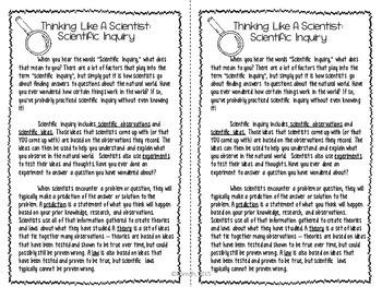 Scientific Inquiry Reading Comprehension Interactive Notebook