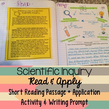 Scientific Inquiry Reading Comprehension Interactive Notebook