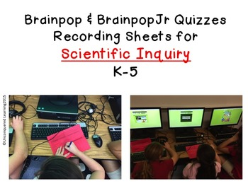 Scientific Inquiry Recording Sheets for Brainpops