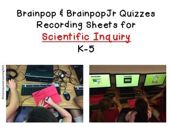 Scientific Inquiry Recording Sheets for Brainpops