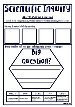 Year 4 Scientific Inquiry Scaffolding workbook with inquiry marking guide.