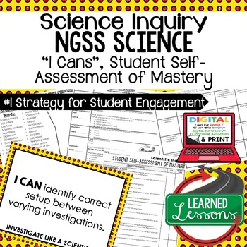 Basic Science & Scientific Inquiry Student Self-Assessment of Mastery I Cans