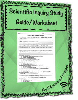 Scientific Inquiry Study Guide Worksheet