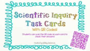 Scientific Inquiry Task Cards with QR codes