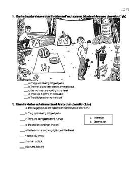 Scientific Inquiry Test