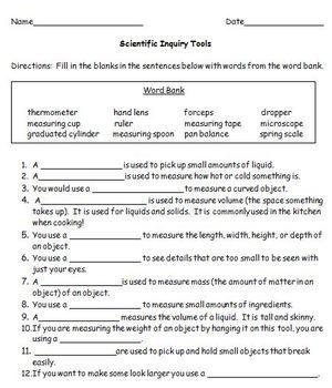 Scientific Inquiry Tools
