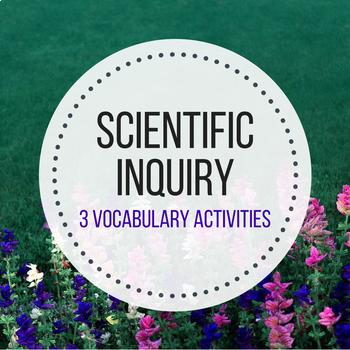 Scientific Inquiry Vocabulary Activities