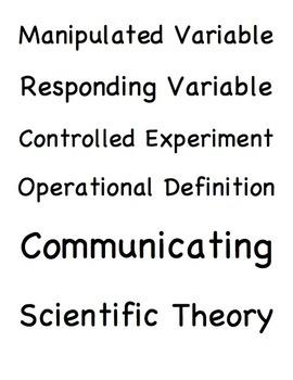 Scientific Inquiry Vocabulary Packet