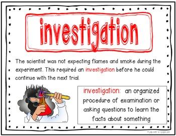Scientific Inquiry Vocabulary Posters