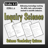 Science Vocabulary Assessments - Scientific Inquiry