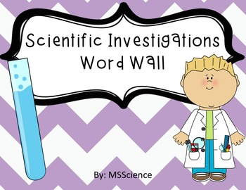 Scientific Investigations Word Wall Words