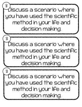 Scientific Inquiry & Scientific Method Writing Prompts