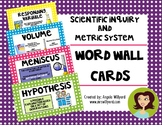 Scientific Inquiry and Metric System Science Word Wall Cards