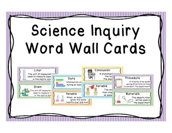 Scientific Inquiry and Scientific Method Word Wall