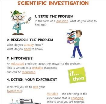 Scientific Investigation Anchor Chart