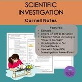 Scientific Investigation Cornell Notes- Differentiated