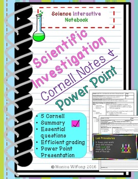 Scientific Investigation Unit Bundle Cornell notes (5 lessons and Presentation)