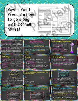 Scientific Investigation Unit Bundle Cornell notes (5 lessons and Presentation)
