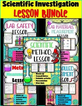 Scientific Investigation Lesson Bundle- Physical Science