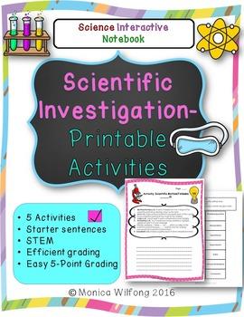 Scientific Investigation Unit (5 Activities)