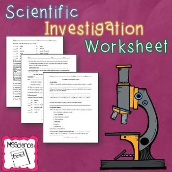 Scientific Investigation Review Worksheet