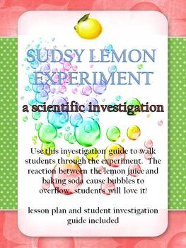 Scientific Investigation - Sudsy Lemon Experiment