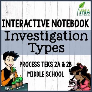 Scientific Investigation Types Interactive Notebook {Freebie}