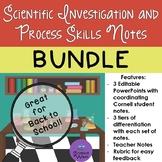 Scientific Investigation and Process Skills Notes BUNDLE