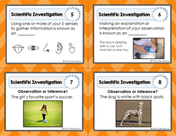 Scientific Investigation Task Cards
