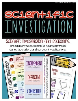 Scientific Investigation and Reasoning - Interactive Notebook Pages